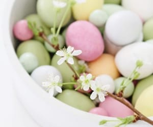 easter, pastel, and easter eggs image