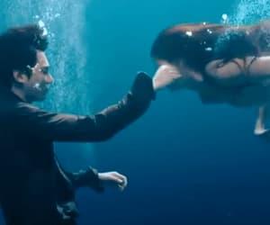 mermaid, gif, and ocean image