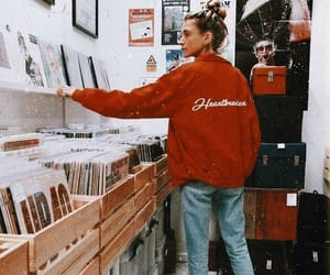 vintage, records, and red image