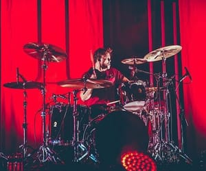 aesthetic, red, and ashton image