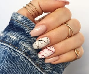 nails, marble, and beauty image