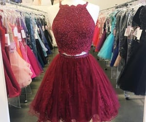outfit, short prom dress, and 2 pieces dress image