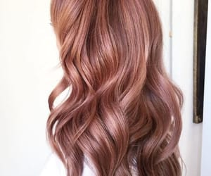 hair, rose gold, and beauty image