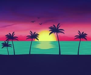 beach, bright, and ca image