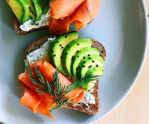 almond, avocado, and breakfast image