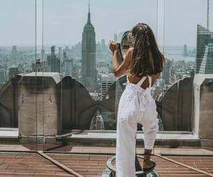 new york and girl image