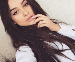 beauty, cateye, and eyeliner image
