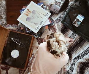 cozy, girl, and music image