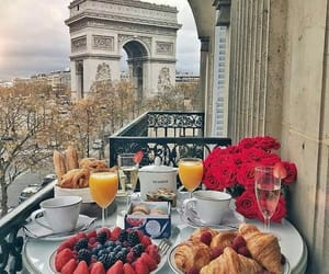 breakfast, paris, and food image