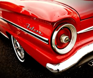 classic car, ford, and red image