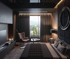 black, bedroom, and house image