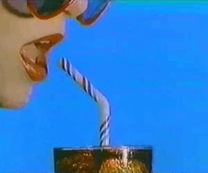 coke, primary colors, and sunglasses image