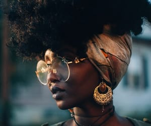 Afro and glasses image