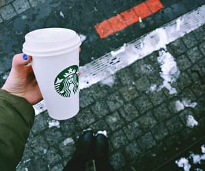 blogger, coffe, and snow image