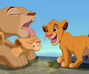 cartoons, disney, and king lion image