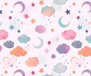 background, clouds, and lune image