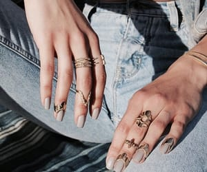 jeans, the kardashians, and jewelry image