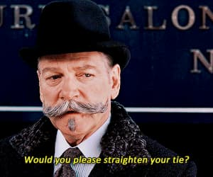 gif, hercule poirot, and death on the nile image