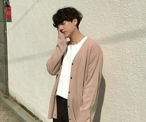 aesthetic, asian boy, and beige image