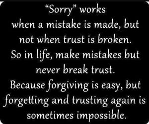 sorry, trust, and quotes image