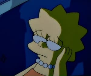 lisa, sad, and simpsons image