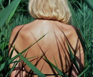 blonde, green, and summer image