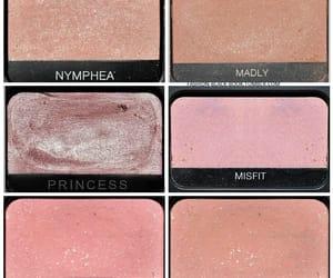 gold, makeup, and pink image