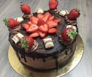 cake, chocolate, and creamy image