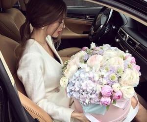 flowers, girl, and luxury image