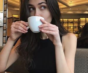 beauty, brunette, and eyeshadow image