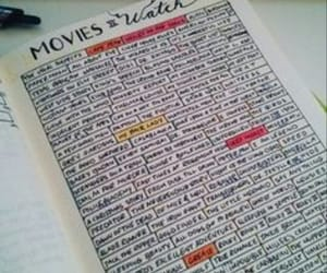 movies, notes, and plan image