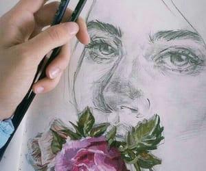 art, flowers, and artist image