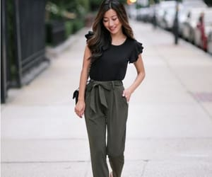 bow pants, tie pants, and dressy pants image