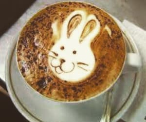 bunny, coffee, and art image