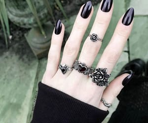 goth, gothic, and nails image