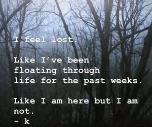feeling, here, and lost image
