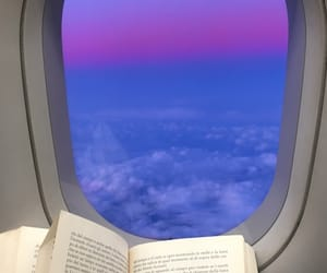 book, books, and plane image
