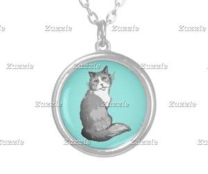 aqua, cat, and mint image
