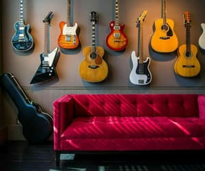 guitar, music, and piano image