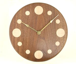 etsy, round wall clock, and handcrafted clock image