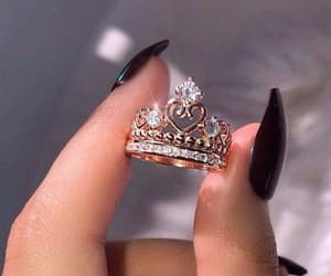 ring, nails, and jewelry image
