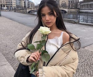 girl, rose, and style image