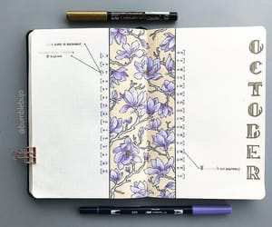 flowers, bujo, and bullet journal image