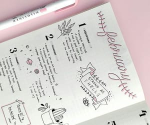 pink, bullet journal, and tumblr image