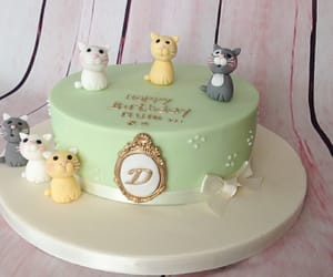 birthday, cake, and cats image