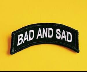 yellow, bad, and sad image