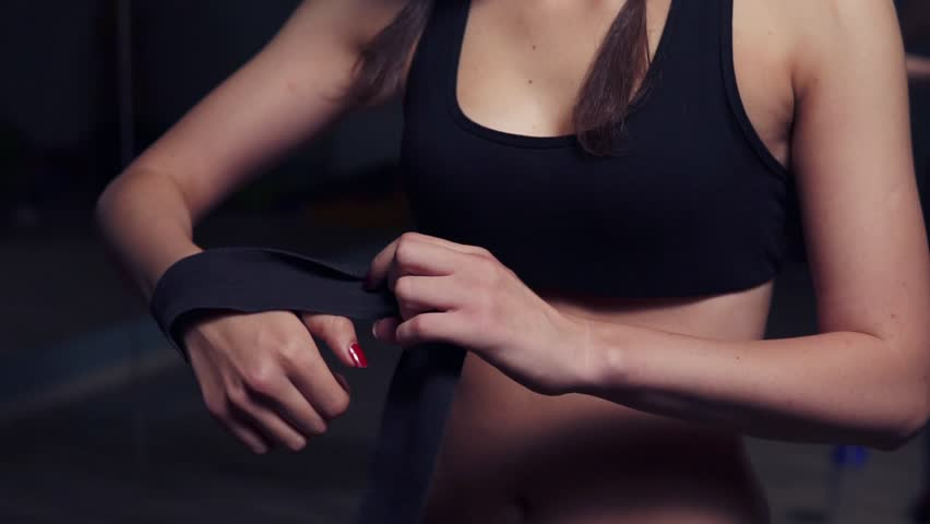 boxing, female, and wrap image