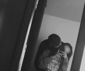 couple, mirror, and mirror selfie image