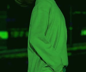 green, grunge, and green glow image