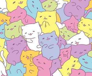 cat, kawaii, and wallpaper image